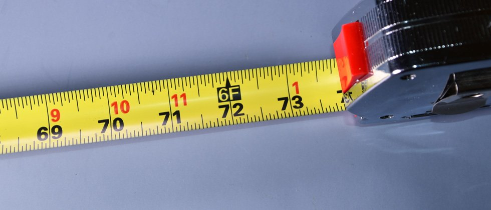 A tape measure showing a height of 6'2