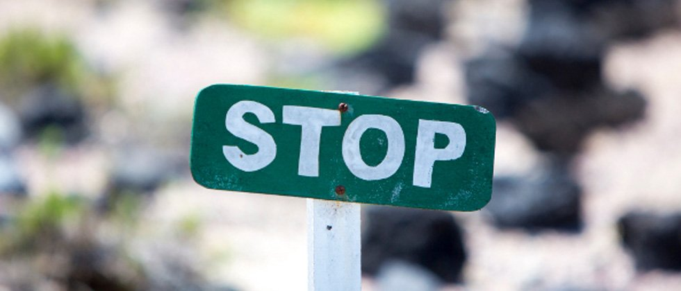 A sign that simply says STOP
