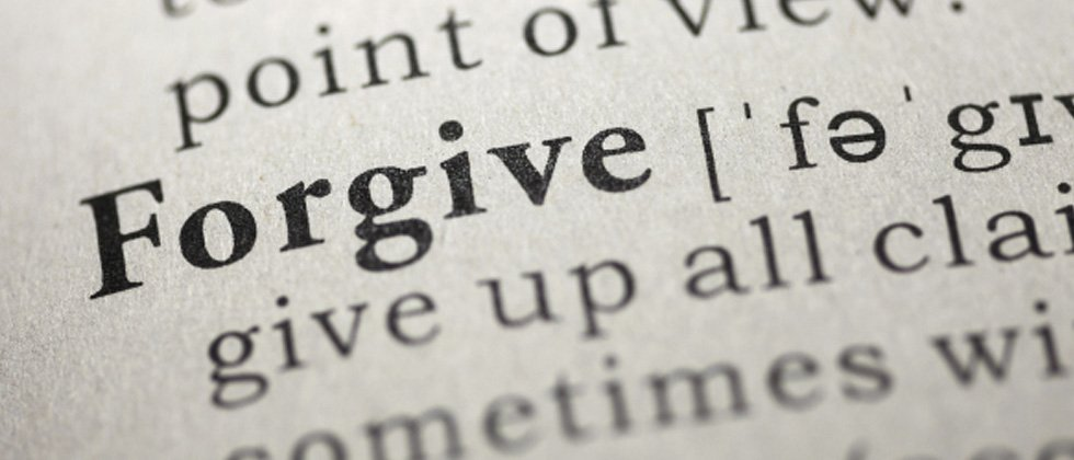 The word forgive as written in the dictionary